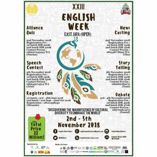 English Week Unesa 2018 Tersedia beragam Lomba