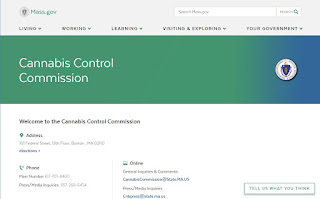 MA Cannabis Control Commission webpage