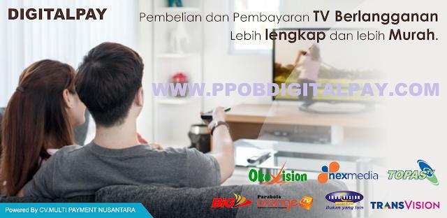 Cara Membuka Loket Pembayaran TV Langganan Transvision, Telkomvision, Yes TV