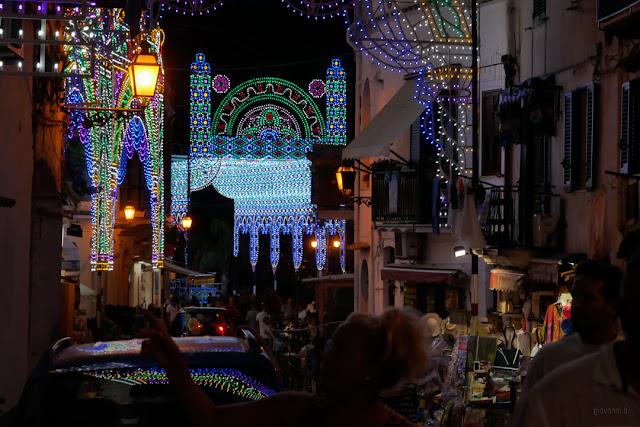 Cetara, luminarie per la festa di San Pietro