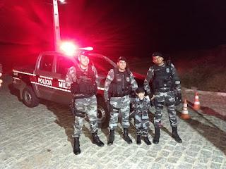 Em Picuí, policiais realizam desejo de criança no dia do seu aniversário