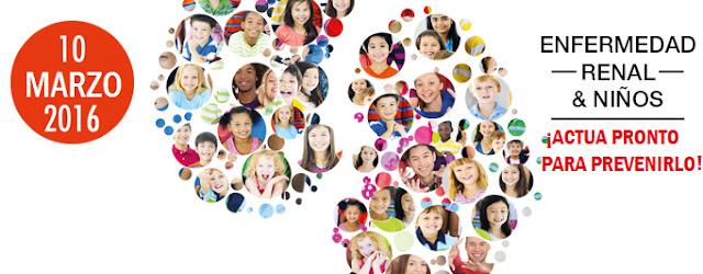 Día Mundial del Riñón: Enfermedad Renal y Niños. Actúa pronto para prevenirlo