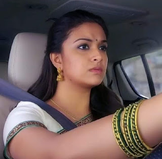 Keerthy Suresh in Saree with Cute Expressions