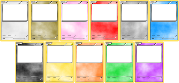 Blank Pokemon Trading Card Templates