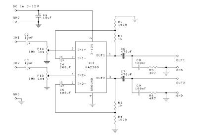 Mini Audio Amplifier Circuit using IC KA2209 [] Diagram Guide