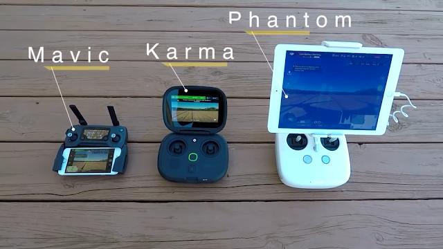 Persaingan Drone Premium DJI Phantom 4 VS Mavic VS Gopro Karma