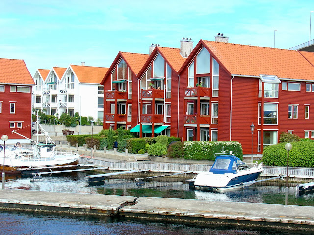 Such colorful homes just outside Stavanger.