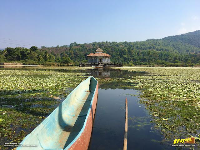 A view of the Lake Temple of Varanga