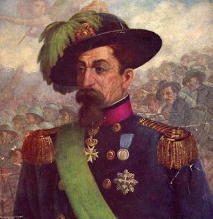 A painting, by an unknown artist, that shows General Alessandro La Marmora, in his Bersaglieri uniform