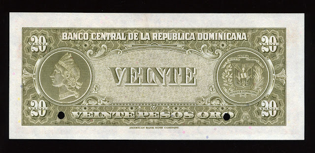 Indian Head Liberty Dominican Pesos money currency banknote