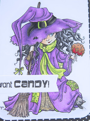 Heather's Hobbie Haven - Color Wednesday - Candy Apple Witch