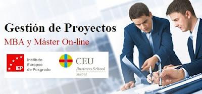 MBA y máster online en Gestión de Proyectos