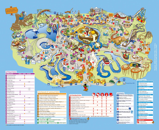 park rozrywki, atrakcje na mapie
