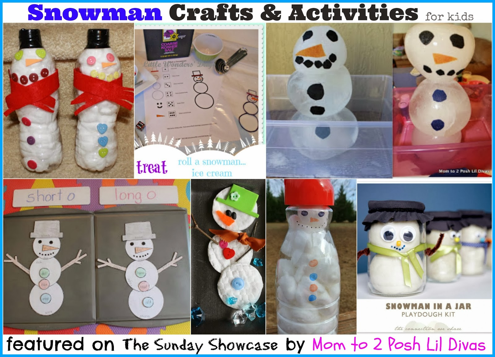 Mom To 2 Posh Lil Divas Snowman Crafts And Activities