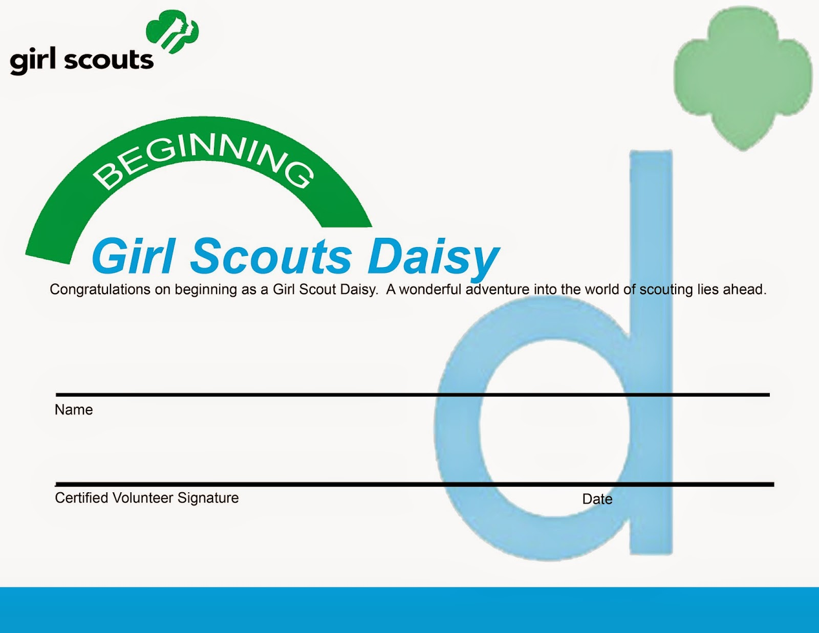 Girl Scout Membership Form