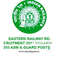 Eastern Railway ASM Syllabus