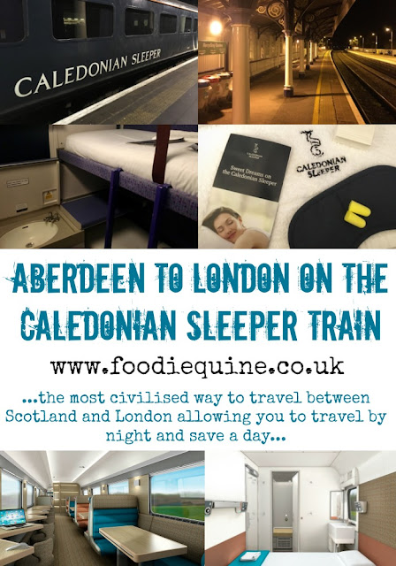 www.foodiequine.co.uk The Caledonian Sleeper train is the most civilised way to travel between Scotland and London allowing you to travel by night and save a day. Definitely a great railway journey to add to your bucket list with new rolling stock scheduled for Spring 2018.