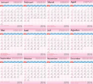 kalender 2016 lengkap hijriyyah gratis