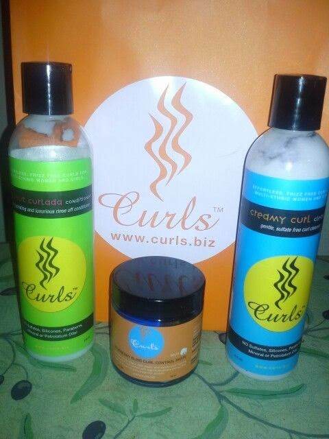 Curls Coconut Curlada Conditioner Creamy Curl Cleanser  Blueberry Blissful
