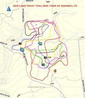 New Land Trust Ski/snowshoe Trails, Town of Saranac