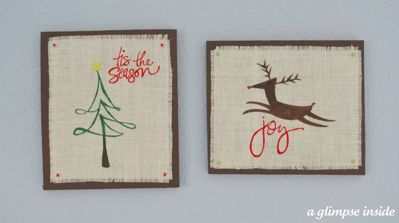 Beau Burlap Christmas Wall Art (Swell Noel #39)
