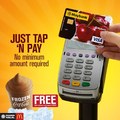 McDonald's Free Frozen Coca Cola When You Tap 'N Pay