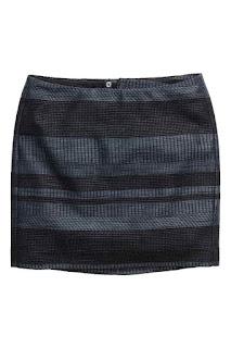 H&M spódnica z żakardowej tkaniny moda blog modowy wyprzedaż w H&M co kupić