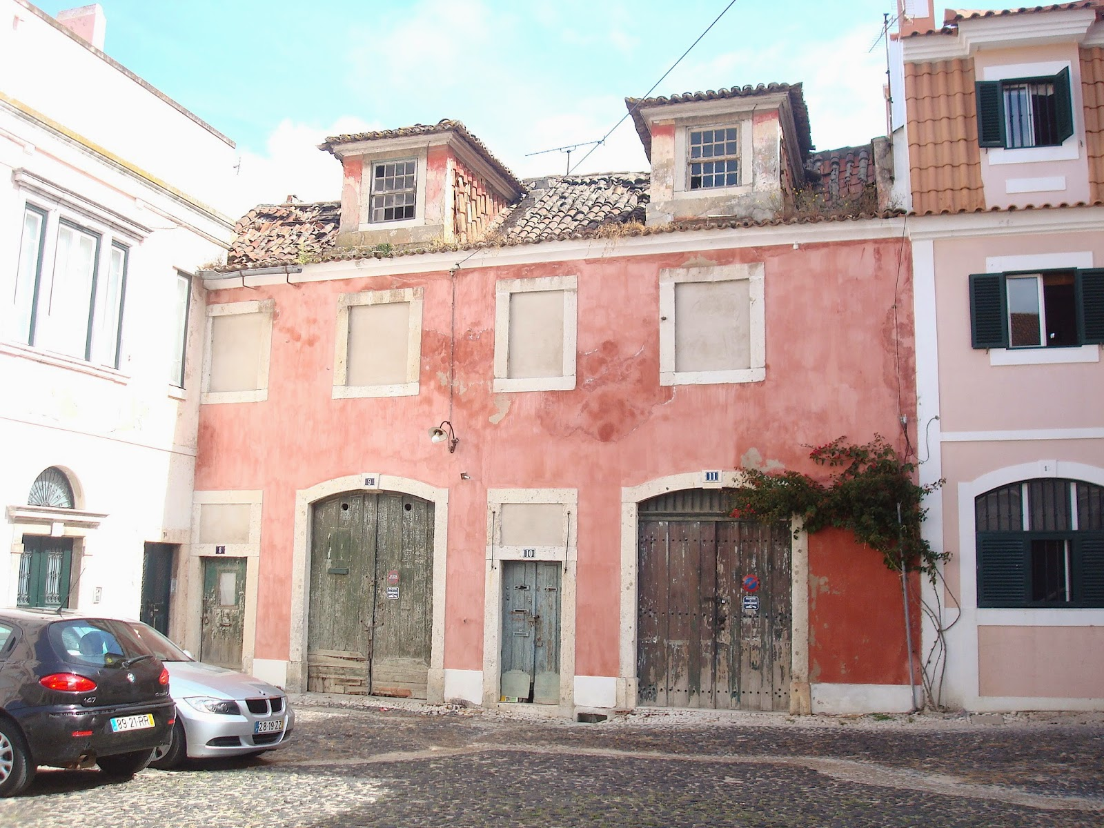 A Pink House in Lisbon