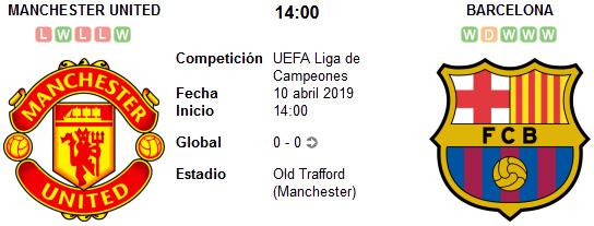 Manchester United vs Barcelona en VIVO