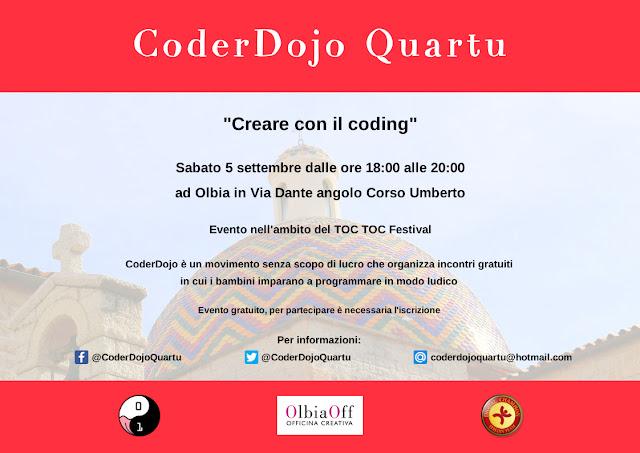 CoderDojo Quartu, coding, Sardegna