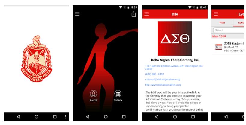 Delta Sigma Theta (DST) Mobile App