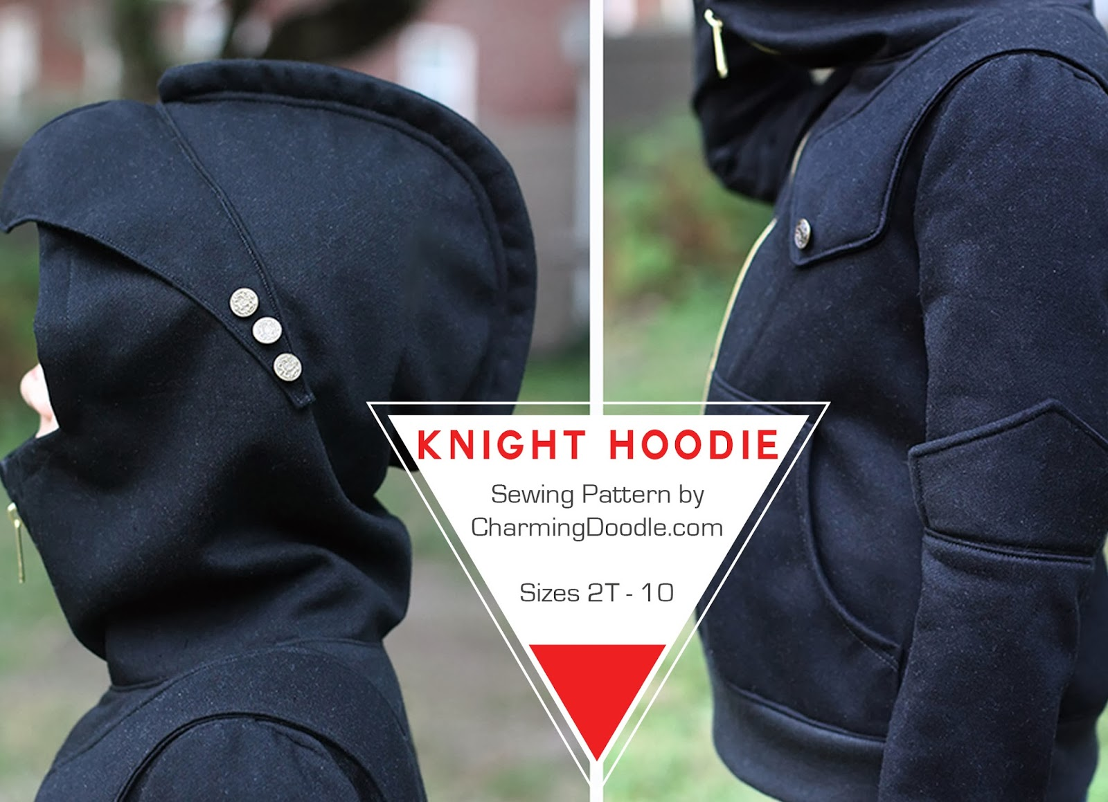Charming Doodle Sew It Build It Introducing The Knight Hoodie