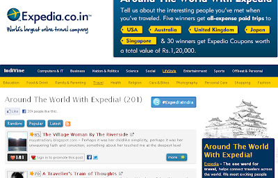 Expedia and IndiBlogger Entries