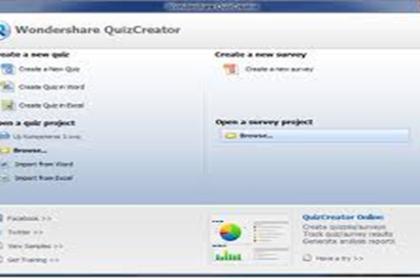 Cara Membuat Quis  dengan Software Wondershare Quiz Creator