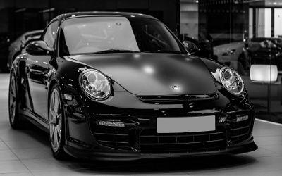 Porsche 911 GT2 RS Noire - Fond d'écran en Full HD