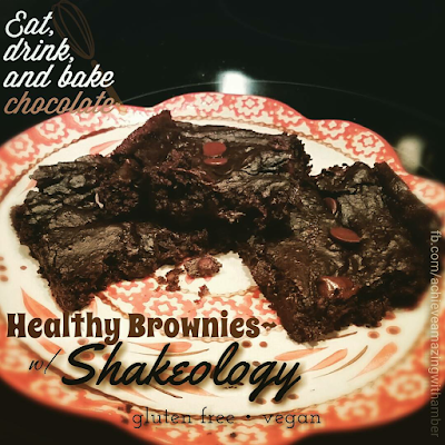 Healthy, healthy brownies, Shakeology, Shakeology brownies, protein brownies, chocolate shakeology recipes, clean eating brownies