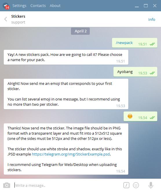 Cara Mudah Membuat Sticker Telegram Android Sendiri