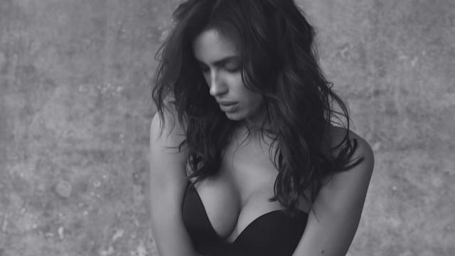 Ecco le foto di Iryna Shayk, la modella di Intimissimi per lo spot reggiseni Gioia Push Up