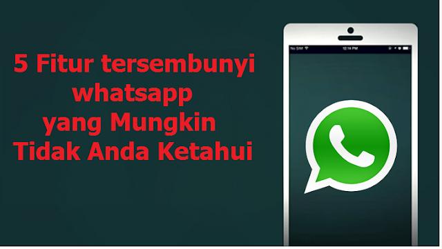 5 Fitur tersembunyi whatsapp yang Mungkin Tidak Anda Ketahui