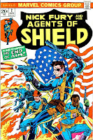 Shield v1 #2 marvel bronze age comic book cover art by Jim Steranko