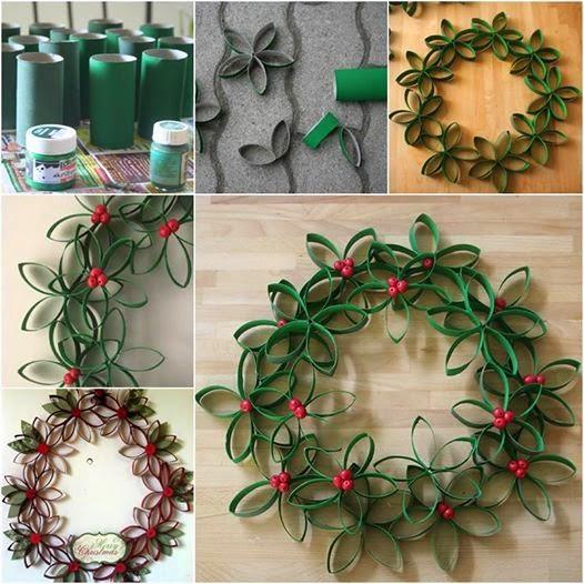 Eccezionale Ghirlande di Natale fai da te con il riciclo creativo DU61