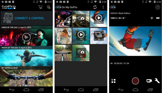 FREE GoPro App 2 4 Android : new interface and Wi-Fi login