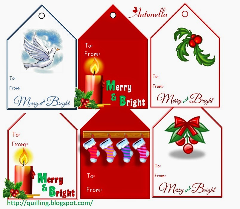 Free Christmas Gift Tags from Antonella at www.quilling.blogspot.com