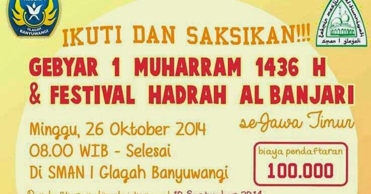 GEBYAR 1 MUHARRAM DAN FESTIVAL HADRAH AL BANJARI se-JAWA TIMUR