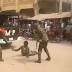 Soldiers beating up physically challenge man gets assaults charges