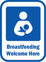 Image: Free Breastfeeding Welcome Here signs/stickers