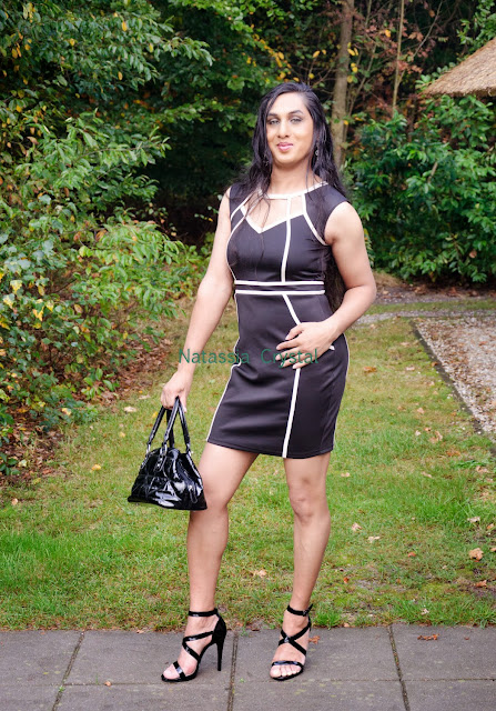 Natassia Crystal natcrys, little black dress, with purse / handbag
