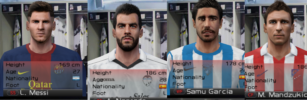 Pack Face dan Hair liga BBVA Pes 6 2015