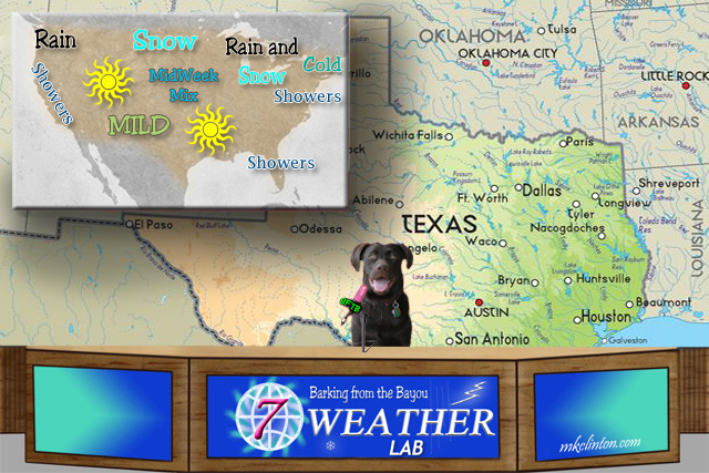 Paisley the Weather Lab and the forecast for the week of 1-8-18