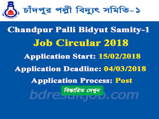 Chandpur Palli Bidyut Samity-1 Job Circular 2018